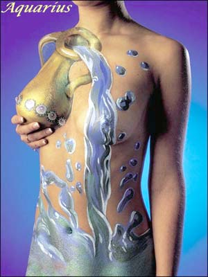 Aquarius - body art